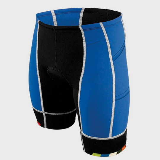 Wholesale Jet Black and Blue Marathon Shorts Manufacturer