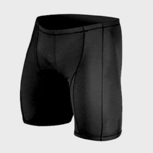 Jet Black Color Block Marathon Shorts Manufacturer USA