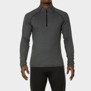 Long Sleeve Grey Marathon Running T-shirt Wholesale CA