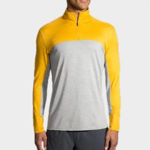 Marathon grey and yellow long sleeve tee manufacturer