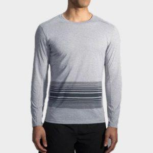 Marathon light grey striped long sleeve tees manufacturer