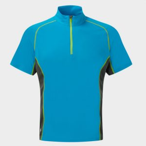 Blue Black and Neon Shorts Sleeve Tee Supplier