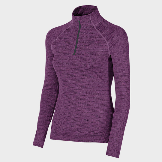 wholesale purple long sleeve marathon t-shirt supplier