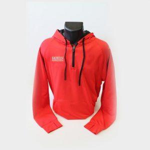 wholesale red and black marathon hooded jacket distributor