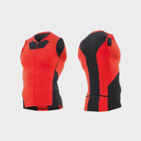 red and black triathlon suit top manufacturer