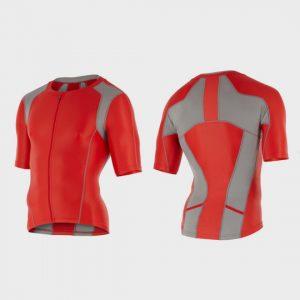 bulk red and grey triathlon suit top distributor