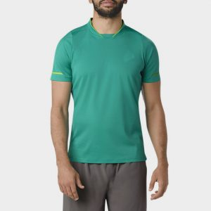 Wholesale Teal Green Short Sleeves Marathon T-shirt Supplier