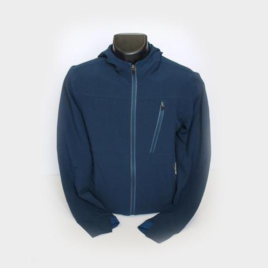 trendy navy blue hoodie marathon jacket distributor usa