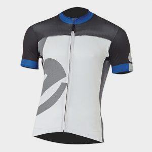 White Black and Blue Short Sleeves Marathon T-shirt Manufacturer