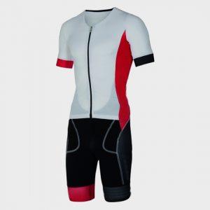 bulk white black and red triathlon suit supplier