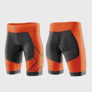 wholesale marathon tangy orange and grey shorts supplier