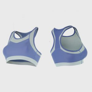 wholesale marathon violet and grey sports bra manufacturer