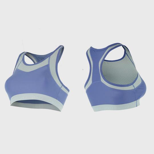 wholesale marathon violet and grey sports bra manufacturer