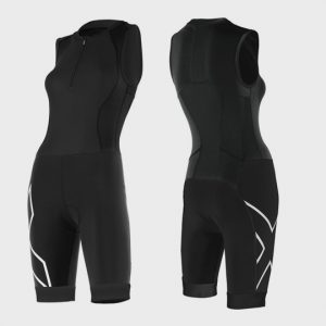 marathon sleeveless black zipped up triathlon suit distributor usa