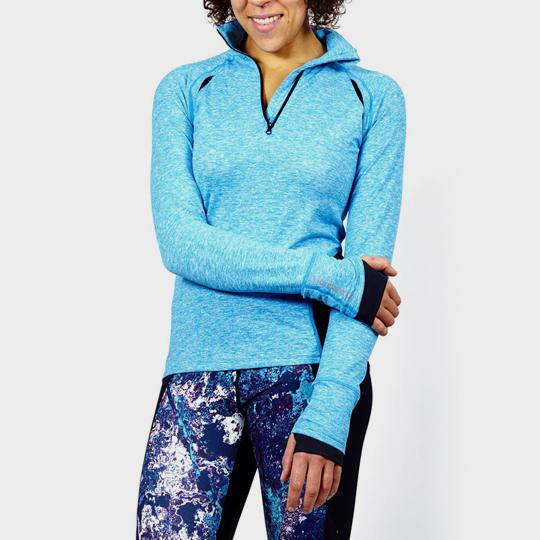 Light blue Long Sleeve Marathon T-shirt