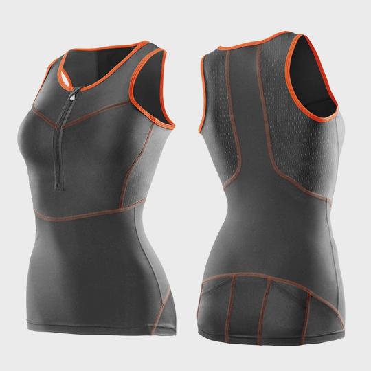 grey and orange triathlon suit top distributor canada