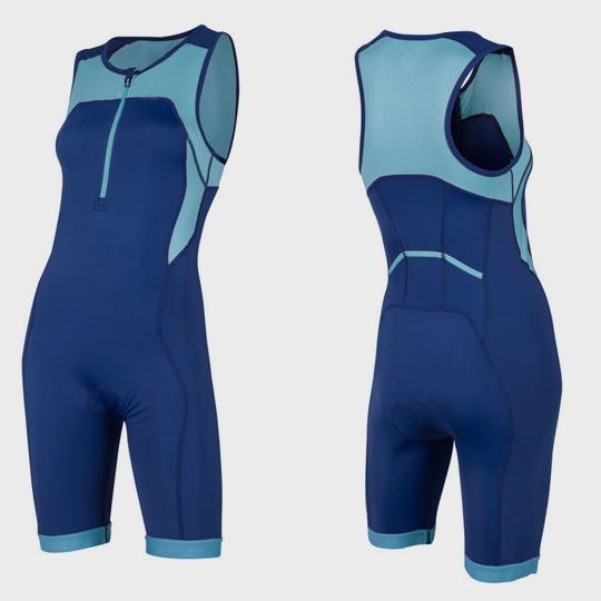 wholesale light and navy blue triathlon suit manufacturer